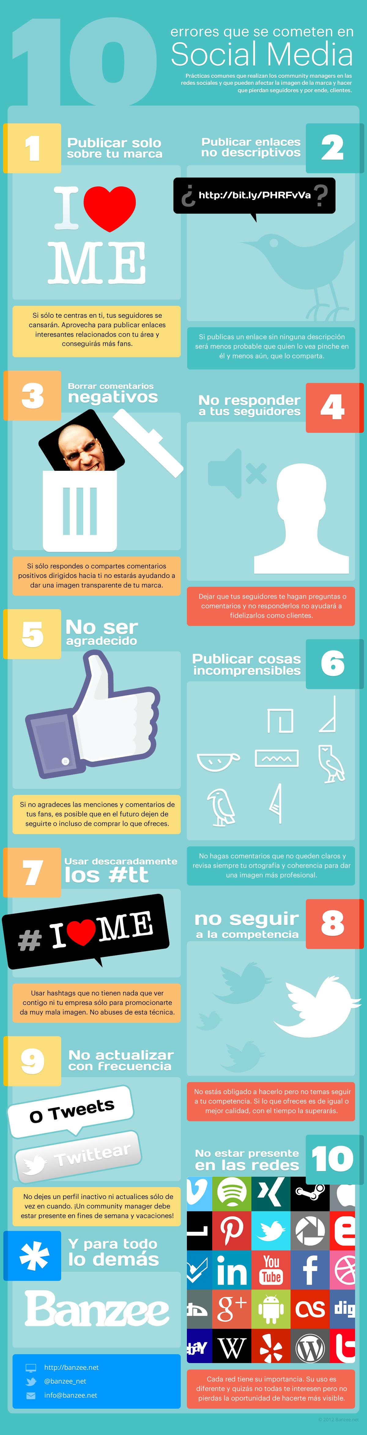 10 errores social media