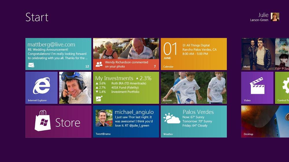 Microsoft's Metro flat design